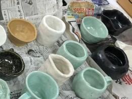 作陶体験で作った作品が完成しました!